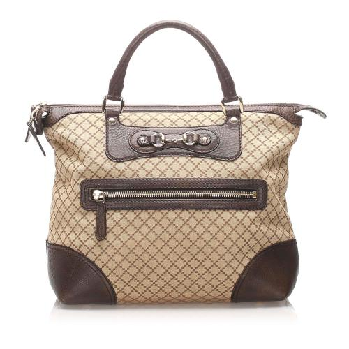 Gucci Diamante Horsebit Catherine Tote Bag