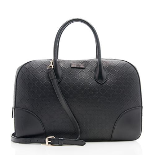 Gucci Diamante Leather Medium Top Handle Bag