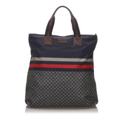 Gucci Diamante Nylon Web Tote