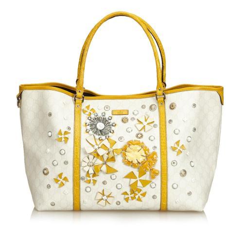 Gucci Embellished Guccissima Tote