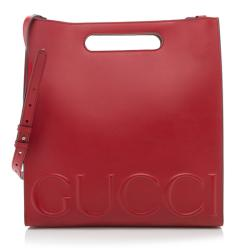 Gucci Embossed Leather XL Tote