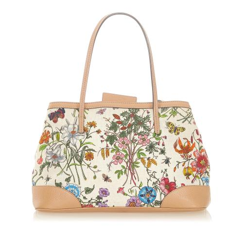 Gucci Flora Canvas Tote Bag