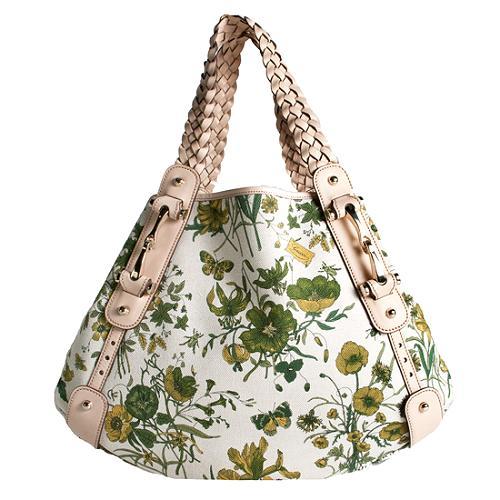 Gucci Floral Pelham Medium Shoulder Handbag