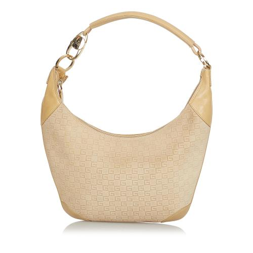 Gucci G Monogram Canvas Shoulder Bag