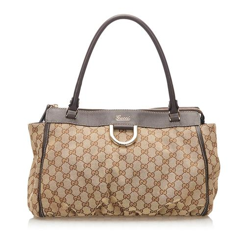 Gucci GG Abbey-D Ring Canvas Tote Bag