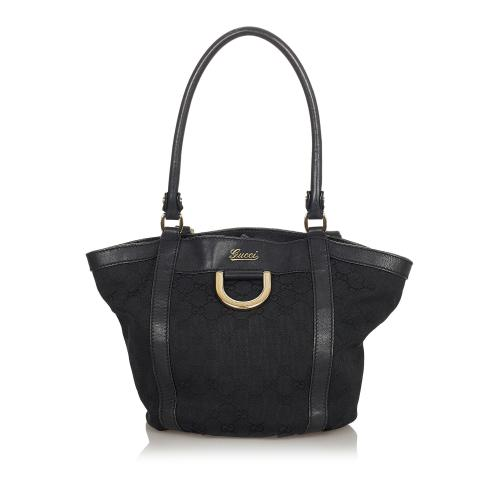 Gucci GG Abbey D-Ring Canvas Tote Bag