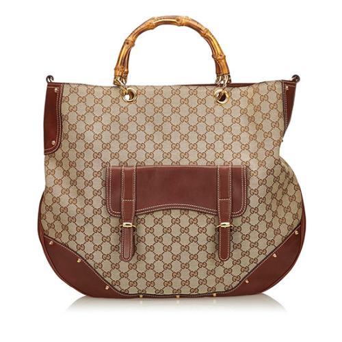Gucci GG Canavs Large Messenger Bag