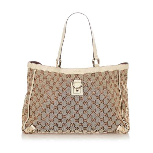 Gucci GG Canvas Abbey D- Ring Tote Bag