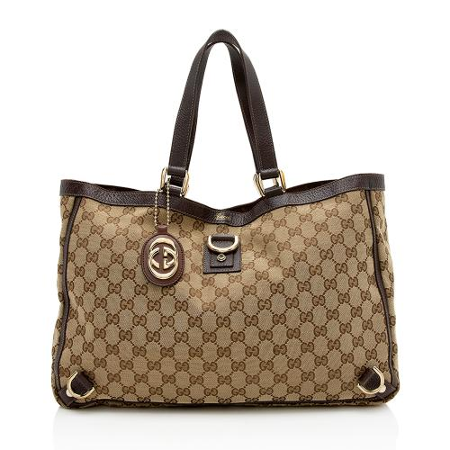 Gucci GG Canvas Abbey D-Ring Medium Tote