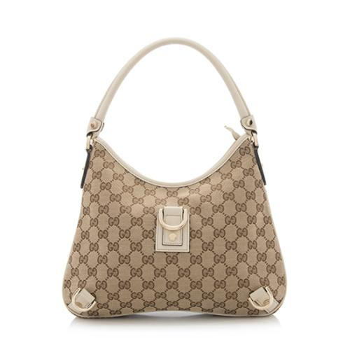 Gucci GG Canvas Abbey Medium Hobo - FINAL SALE