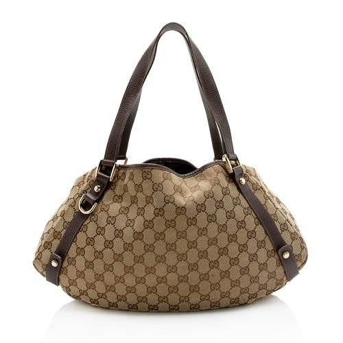 Gucci GG Canvas Abbey Medium Shoulder Bag