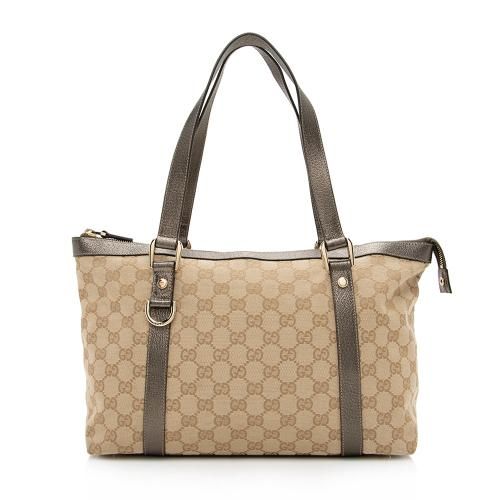 Gucci GG Canvas Abbey Medium Tote