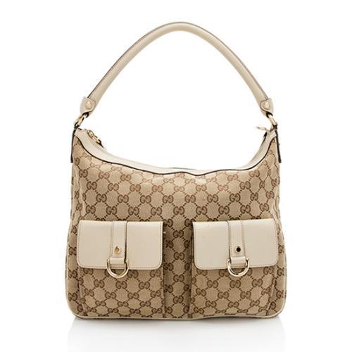 Gucci GG Canvas Abbey Pocket Hobo