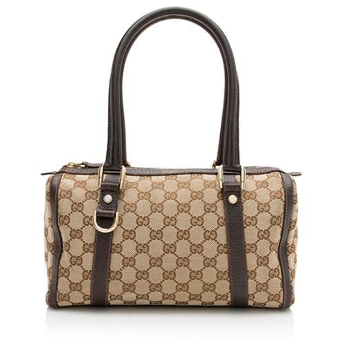 Gucci GG Canvas Abbey Small Boston Bag