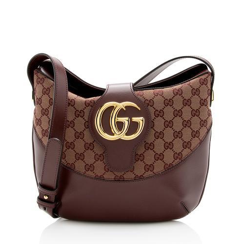 Gucci GG Canvas Arli Medium Shoulder Bag
