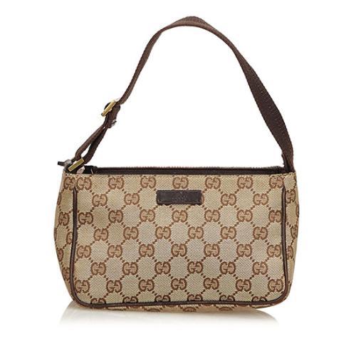 Gucci GG Canvas Baguette Bag