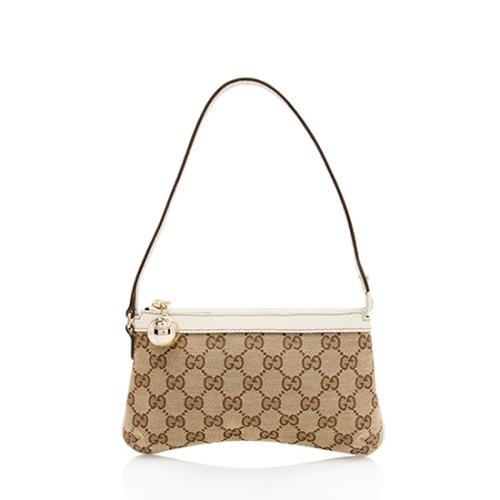 Gucci GG Canvas Ball Charm Pochette