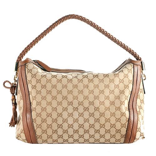 Gucci GG Canvas Bella Medium Hobo Handbag