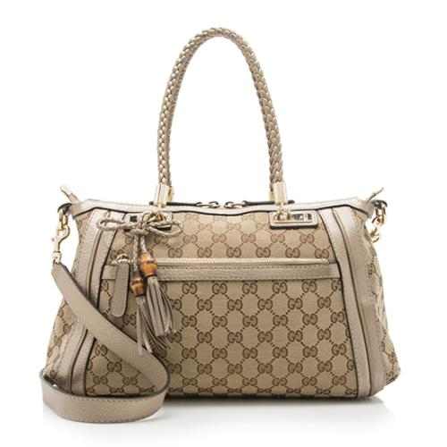 Gucci GG Canvas Bella Top Handle Bag