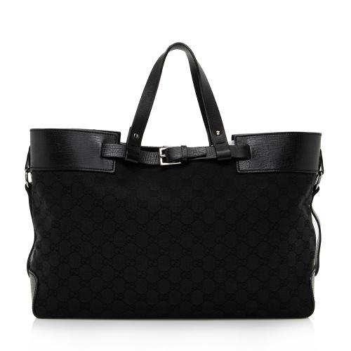 Gucci GG Canvas Belted Tote