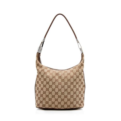 Gucci GG Canvas Binoche Medium Shoulder Bag