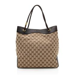 Gucci GG Canvas Braided Handle Tote
