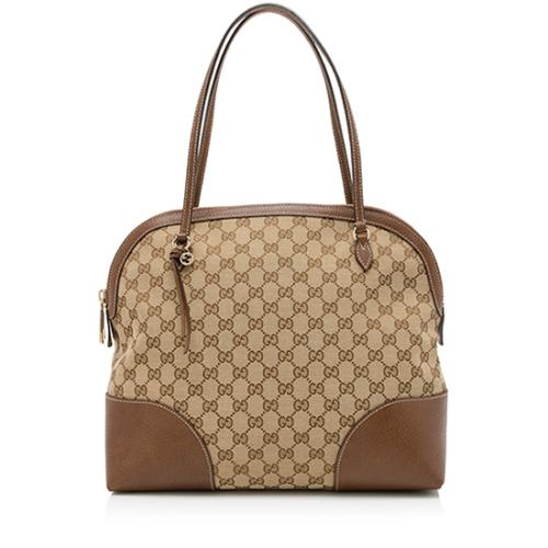 Gucci GG Canvas Bree Dome Shoulder Bag