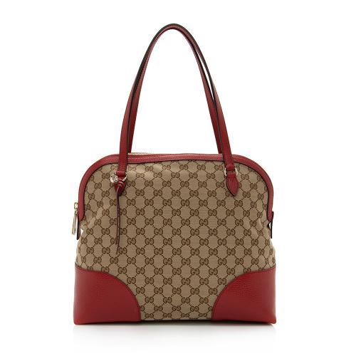 Gucci GG Canvas Bree Dome Shoulder Bag