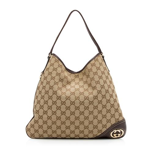 Gucci GG Canvas Britt Hobo