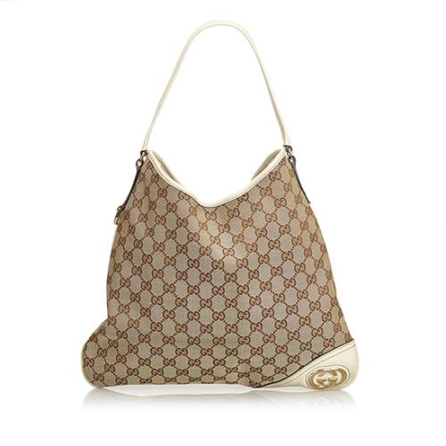 Gucci GG Canvas Britt Medium Hobo