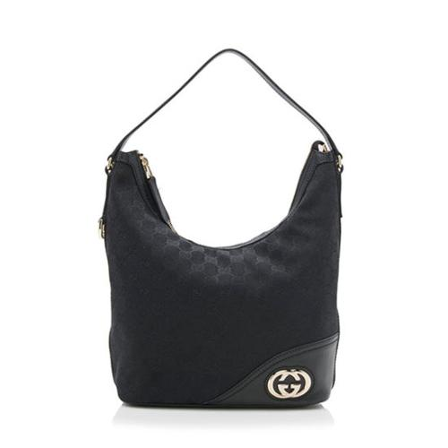 Gucci GG Canvas Britt Small Hobo