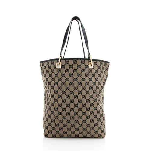 Gucci GG Canvas Bucket Large Tote