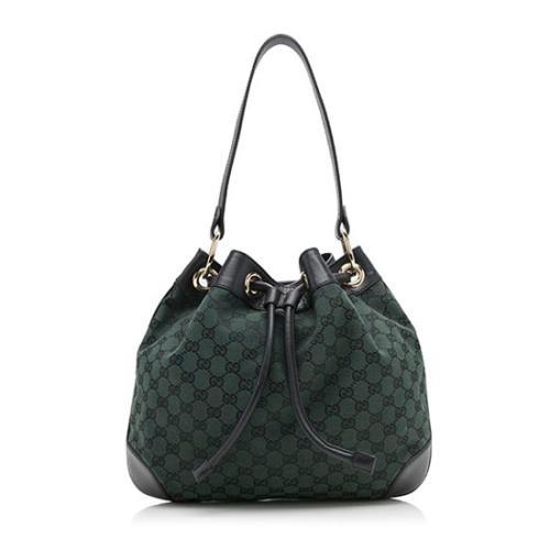 Gucci GG Canvas Bucket Shoulder Bag
