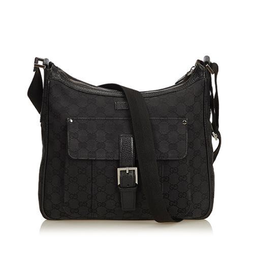 0b1d230c3e7 Gucci-GG-Canvas-Buckle-Messenger-Bag 100383 front large 0.jpg