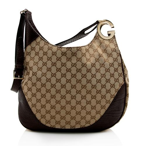 Gucci GG Canvas Charlotte Medium Shoulder Bag