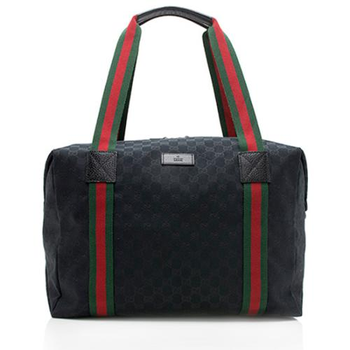 Gucci GG Canvas Collapsible Large Duffel Bag