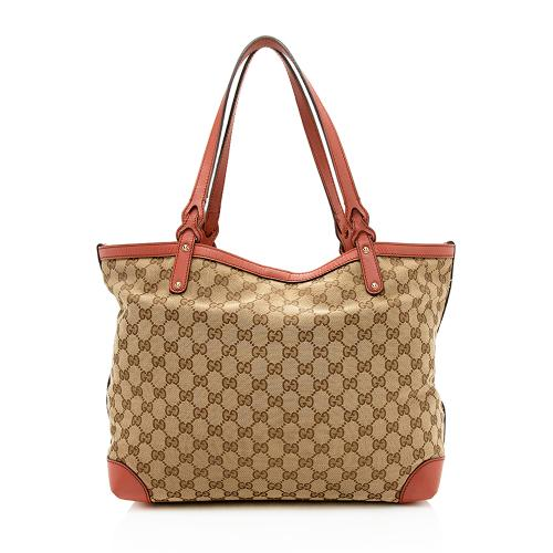 Gucci GG Canvas Craft Medium Tote