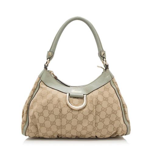 Gucci GG Canvas D Gold Small Hobo