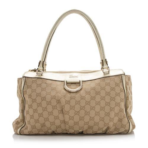 Gucci GG Canvas D Gold Tote