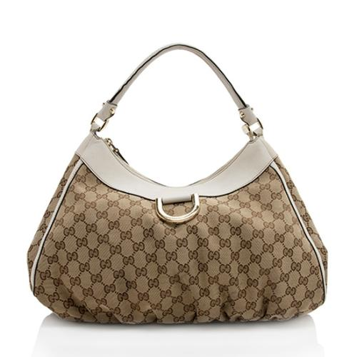 Gucci GG Canvas D Ring Large Hobo