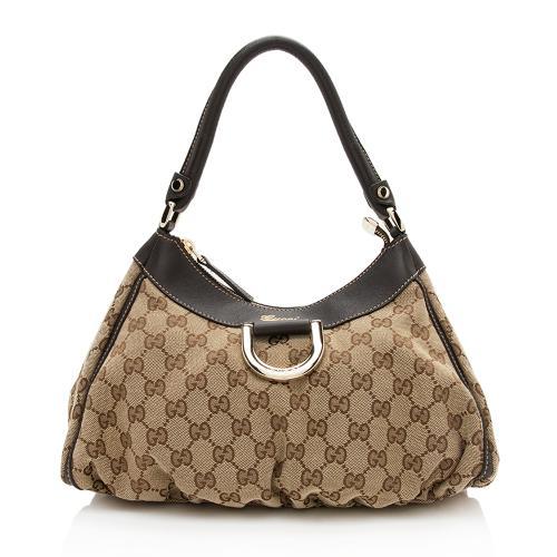 Gucci GG Canvas D-Ring Shoulder Bag