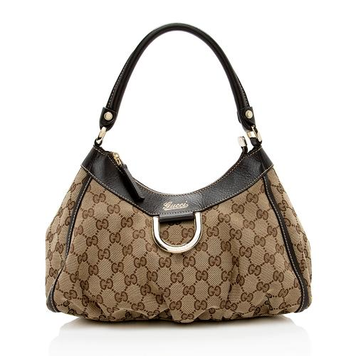 Gucci GG Canvas D-Ring Small Hobo