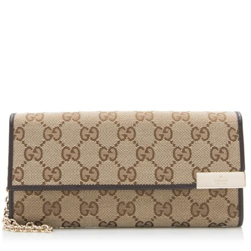 Gucci GG Canvas Dice Wallet on Chain Bag