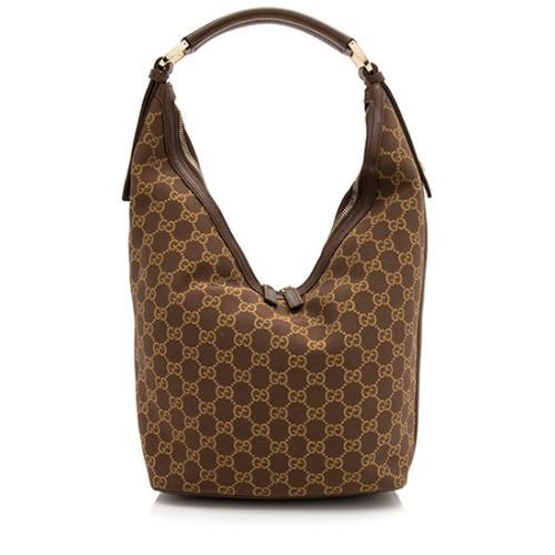 Gucci GG Canvas Double Zip Hobo