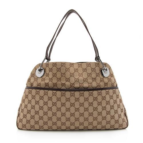 Gucci GG Canvas Eclipse Medium Shoulder Bag