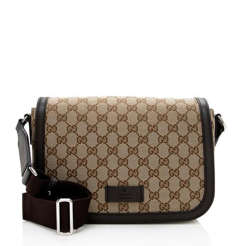 Gucci GG Canvas Flap Messenger Bag