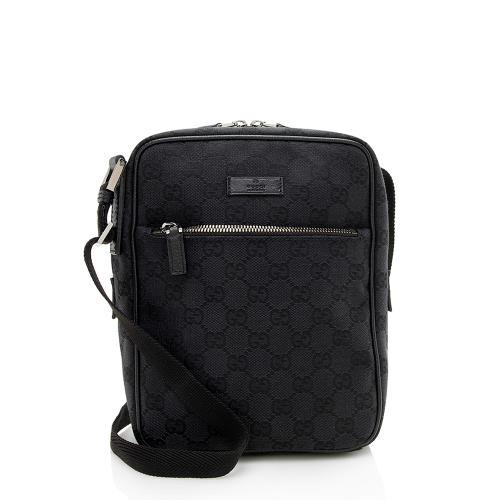 Gucci GG Canvas Flight Crossbody Bag