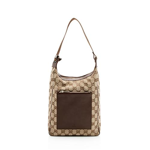 Gucci GG Canvas Front Pocket Hobo