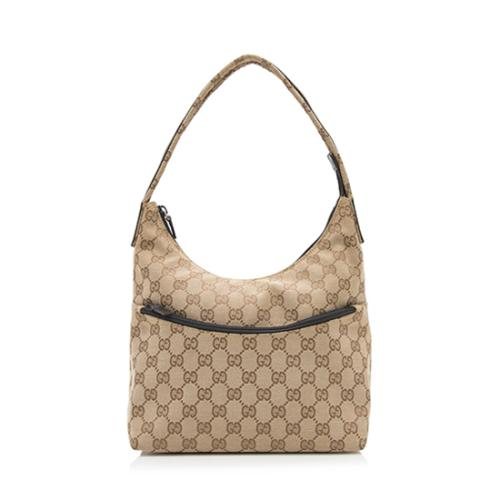 Gucci GG Canvas Front Zip Shoulder Bag