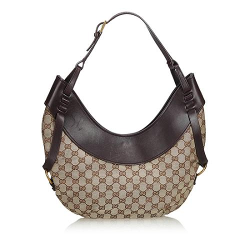 Gucci GG Canvas Crescent Medium Hobo